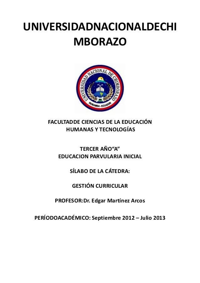 """UNIVERSIDADNACIONALDECHIMBORAZOFACULTADDE CIENCIAS DE LA EDUCACIÓNHUMANAS Y TECNOLOGÍASTERCER AÑO""""A""""EDUCACION PARVULARIA I..."""