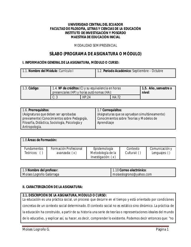 UNIVERSIDAD CENTRAL DEL ECUADOR FACULTAD DE FILOSOFÍA, LETRAS Y CIENCIAS DE LA EDUCACIÓN INSTITUTO DE INVESTIGACIÓN Y POSG...