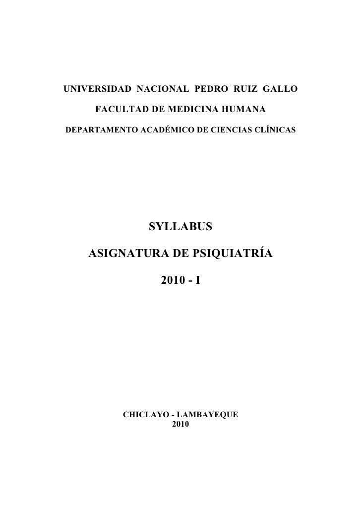 UNIVERSIDAD NACIONAL PEDRO RUIZ GALLO       FACULTAD DE MEDICINA HUMANA  DEPARTAMENTO ACADÉMICO DE CIENCIAS CLÍNICAS      ...