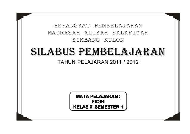 Silabus Fiqih Ma Kelas X 1 2