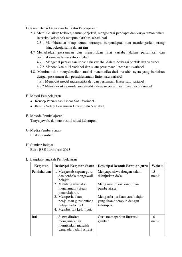 Silabus Matematika Smp Kelas 7 Kurikulum 2013