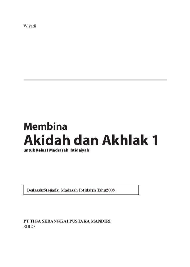 Silabus Rpp Akidah Akhlak Mi Kl 1 Smt 1 2