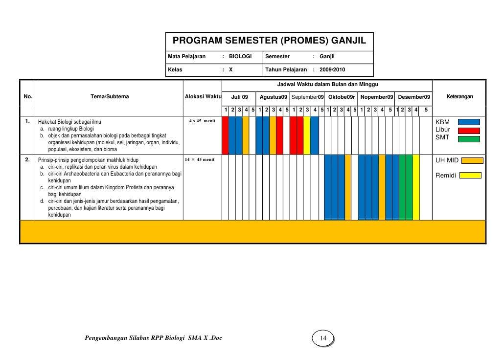 Silabus Rpp Biologi X Smt 1 2 Sma2 Mataram