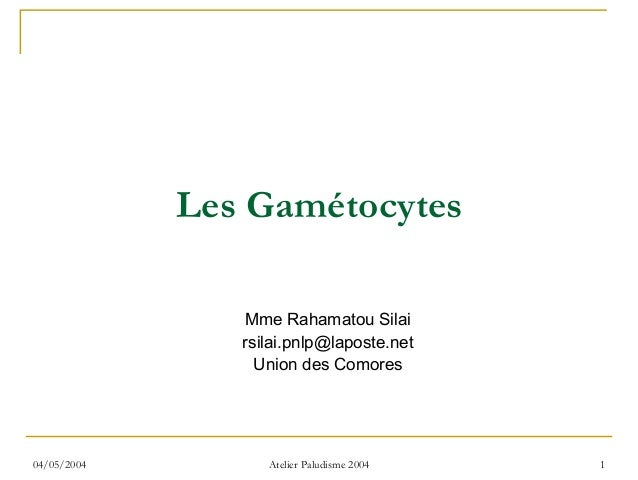Les Gamétocytes                Mme Rahamatou Silai                rsilai.pnlp@laposte.net                  Union des Comor...