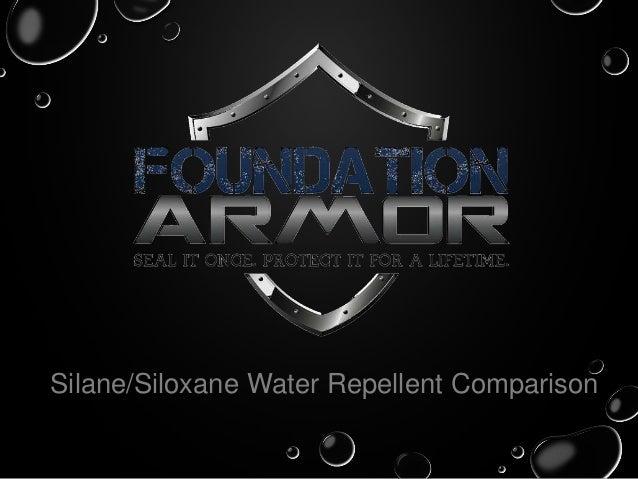 Silane/Siloxane Water Repellent Comparison