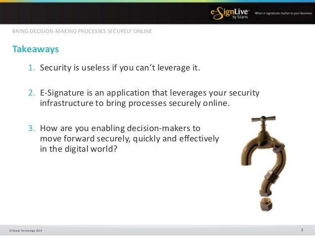 Silanis Technology (e-Sign) Presentation Slide 2