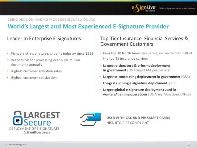 Silanis Technology (e-Sign) Presentation Slide 3