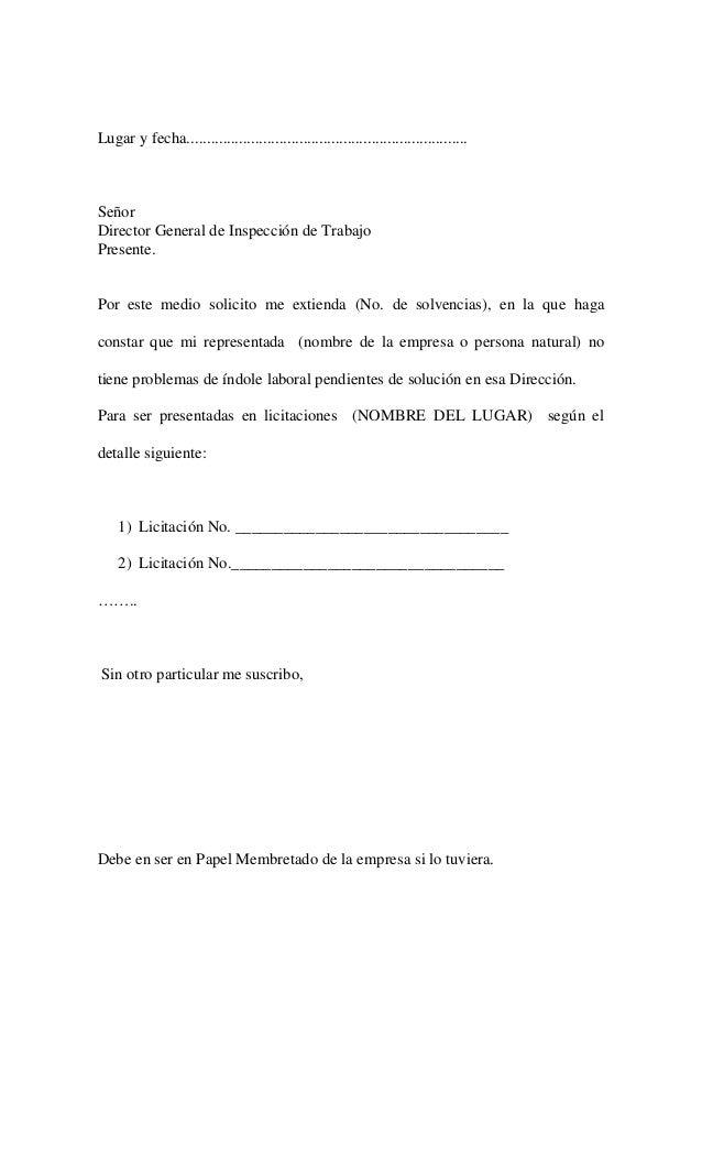 carta de solicitud laboral ejemplo