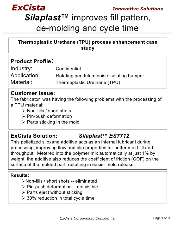 Silaplast TPU Process Enhancement Case Study