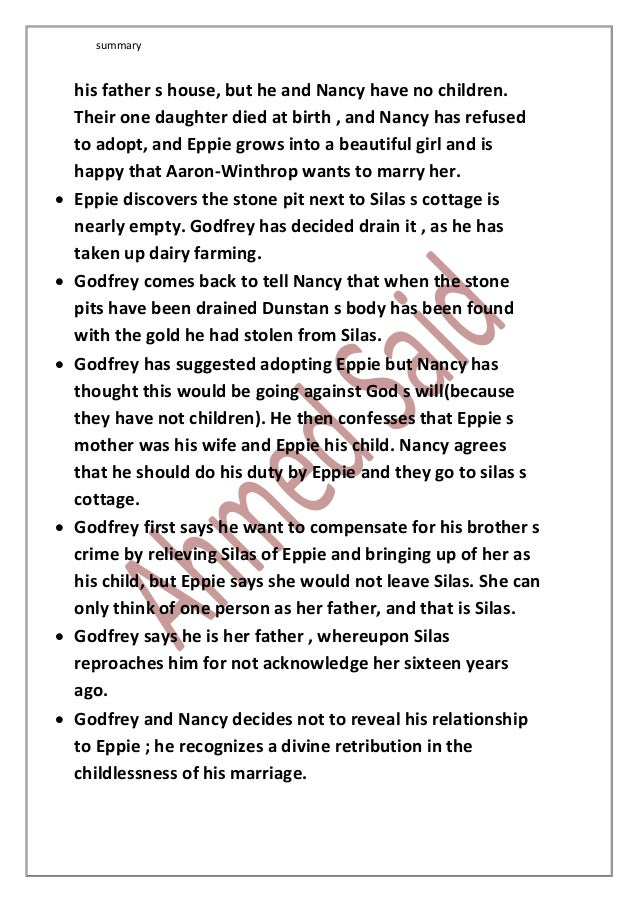 "the relationship between eppie and silas in silas marner Silas marner quotation analysis silas marner quotation analysis ""god will clear me"" chapter 1, pg 13  speaking about: the relationship between silas and eppie."