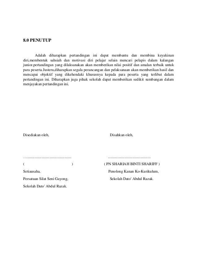 Contoh Kertas Kerja (Paperwork)