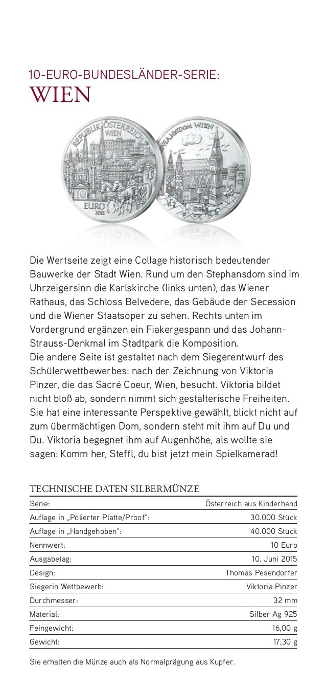 Silbermünze Wien: die 7. Bundesländer Münze für Sammler Slide 3