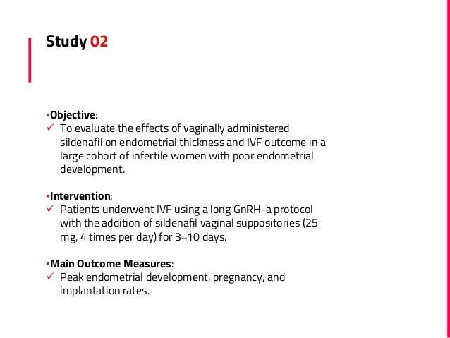 Sildenafil in female infertility (thin endometrium)