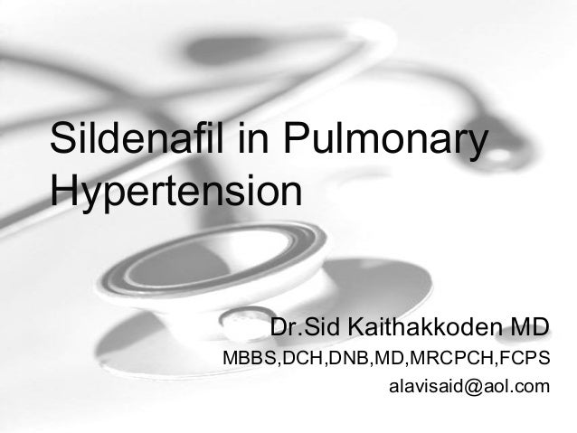 treatment of pulmonary hypertension with sildenafil