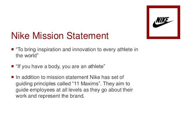 Bullshit Nike Corporate Mission Statement Paper