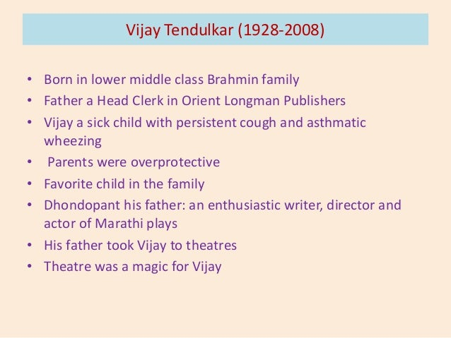 the title of vijay tendulkars silence