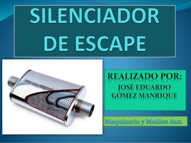 FUNCIÓN POLITÉCNICA  ¿Qué función realiza el silenciador? Tras el momento de la combustión, el sonido de un motor viaja p...