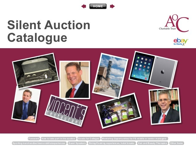 Foreword How to take part in the auction Goods for Colleges Mentoring Opportunities for FE middle or senior managers Sport...