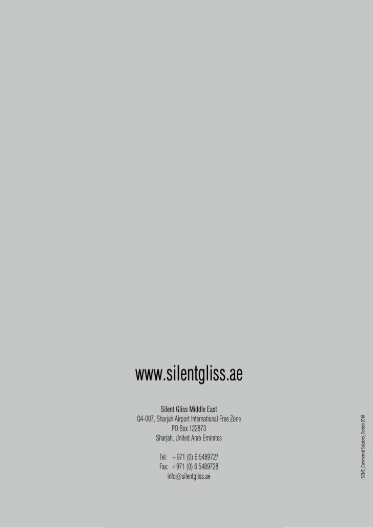 Silent gliss me commercial catalogue for Leson innenarchitektur x objektmanagement