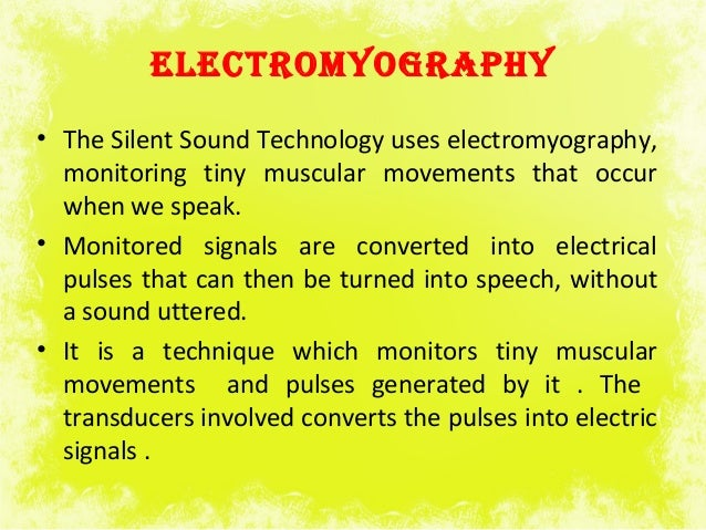 Silent sound technology research paper