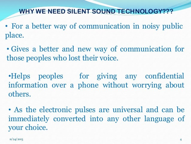 report on silent sound technology
