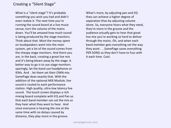 "Creating a ""Silent Stage"" What is a ""silent stage""? It's probably something you wish you had and didn't even realize it. T..."