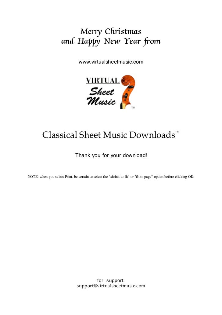 Merry Christmas                      and Happy New Year from                                  www.virtualsheetmusic.com   ...