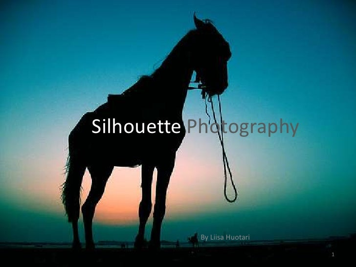 Silhouette Photography<br />By Liisa Huotari<br />1<br />