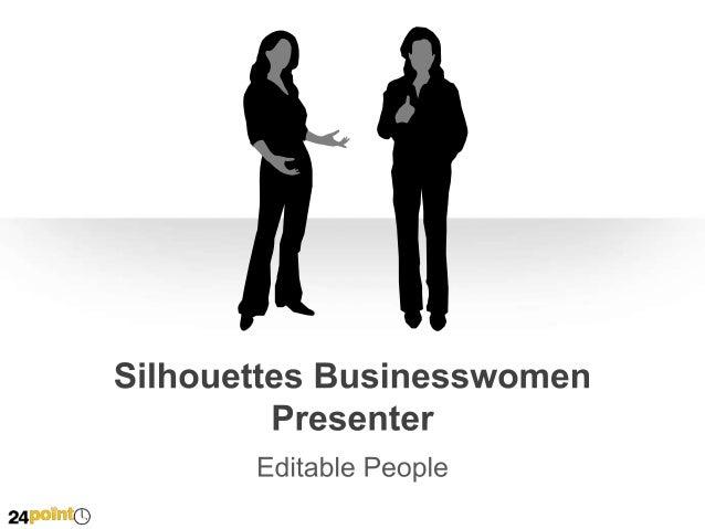 Silhouettes Businesswomen Presenter