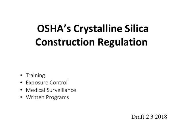 Silica 2018 construction