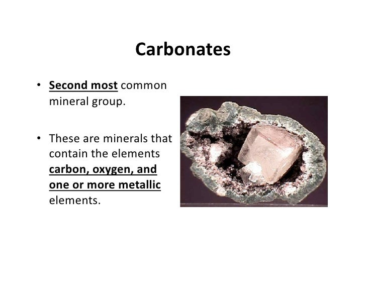 Silicates And Carbonates