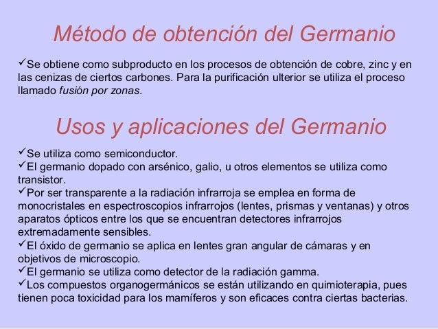 Silicio germanio for Para que se utiliza el marmol