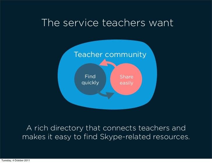 The service teachers want                                Teacher community                                  Find     Share...