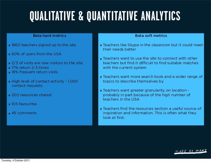 QUALITATIVE & QUANTITATIVE ANALYTICS                          Beta hard metrics                            Beta soft metri...