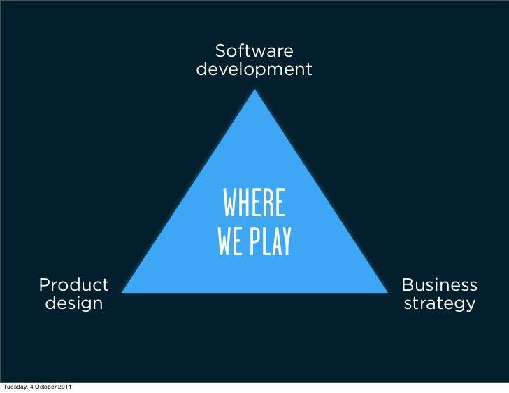 Software                          development                            WHERE                            WE PLAY         ...