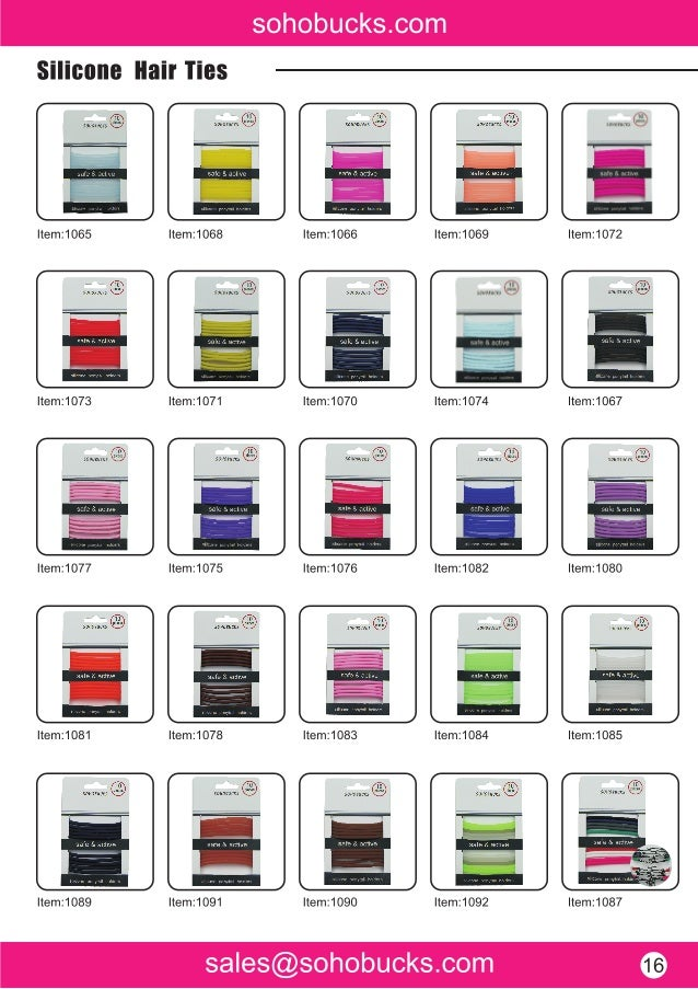 Silicone hair ties