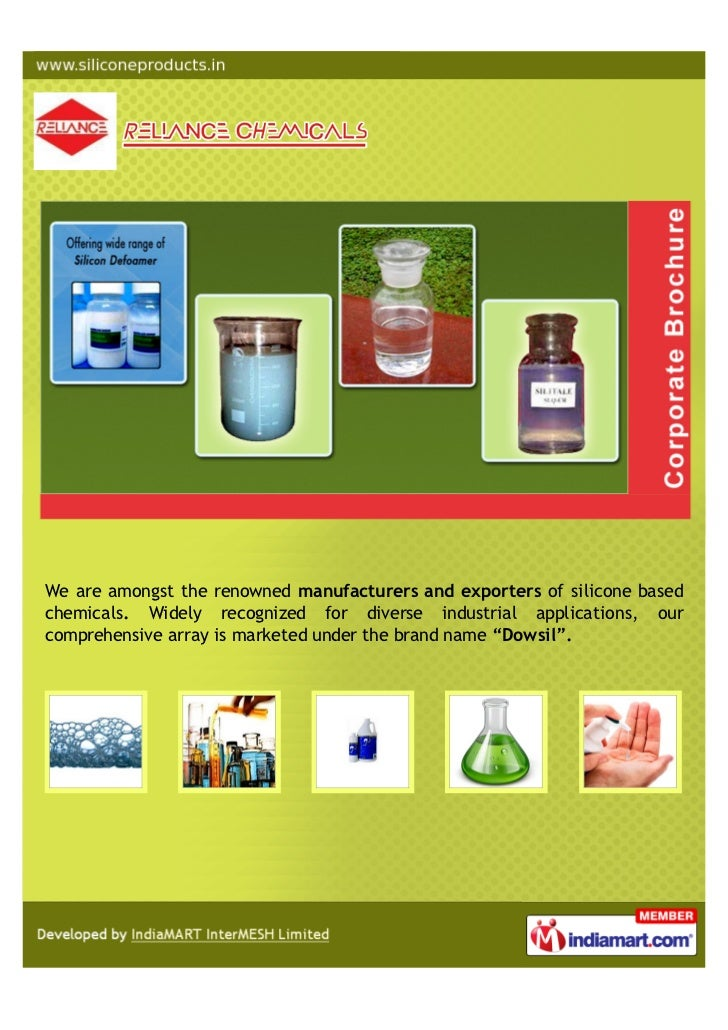 We are amongst the renowned manufacturers and exporters of silicone basedchemicals. Widely recognized for diverse industri...