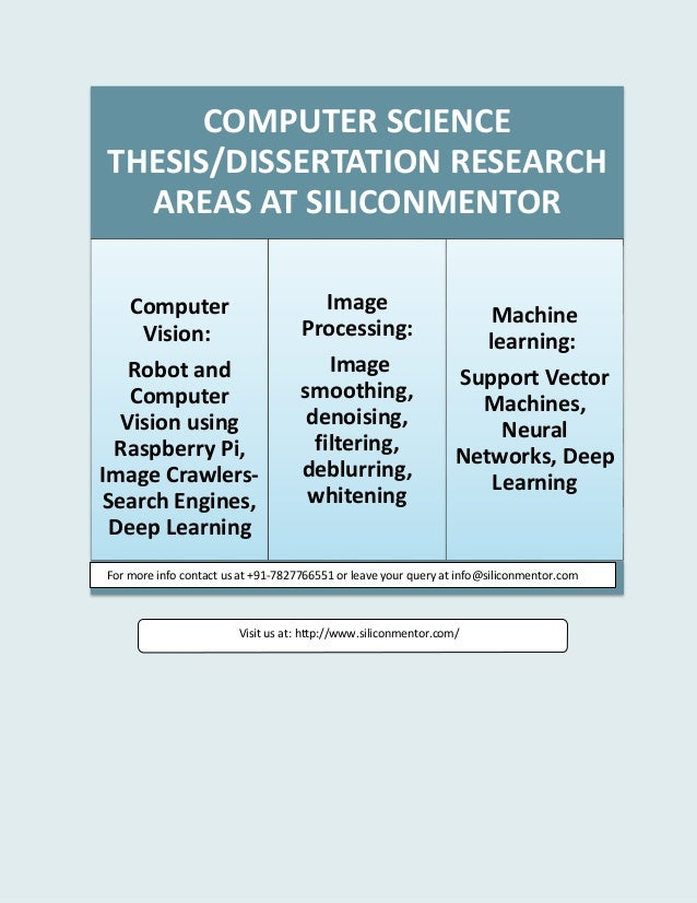 MSc Laptop or computer Scientific disciplines Thesis Themes