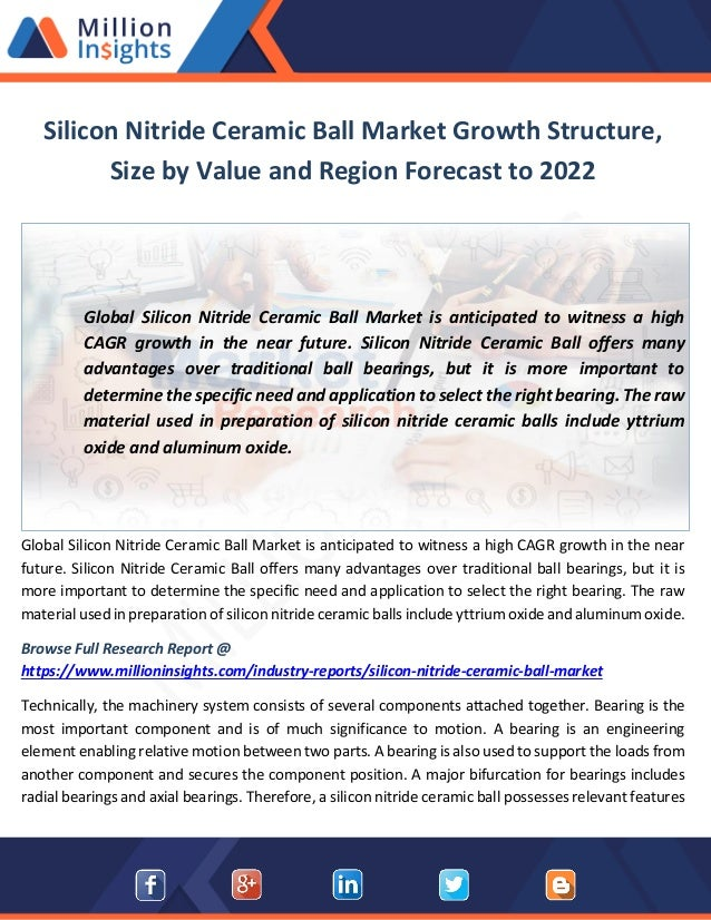 Silicon Nitride Ceramic Ball Market Growth Structure, Size