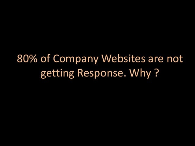 80% of Company Websites are not getting Response. Why ?