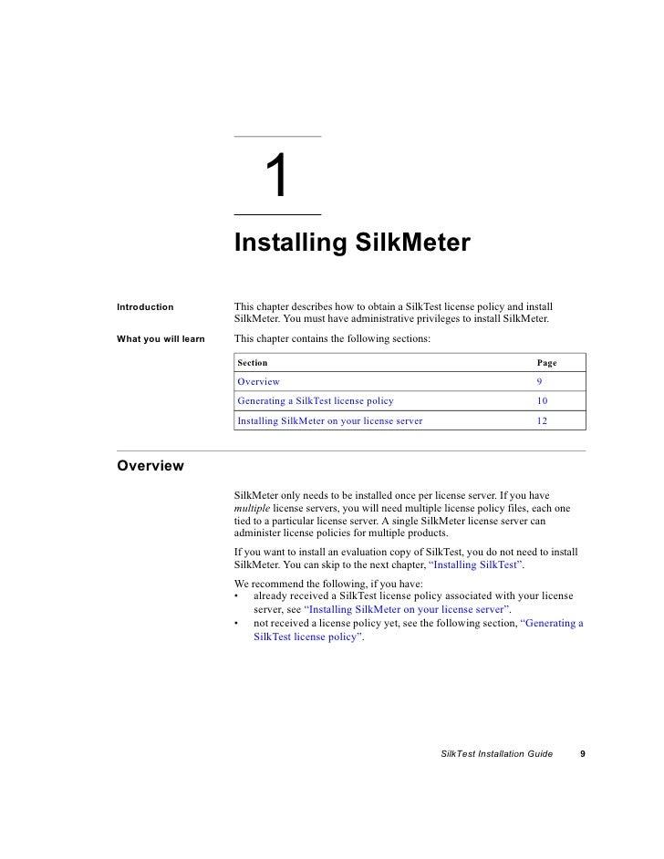 Silk Test Install Guide