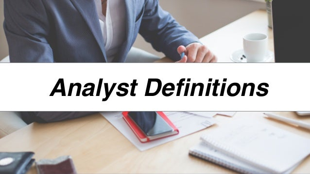 Analyst Definitions