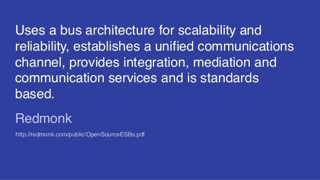 Uses a bus architecture for scalability and reliability, establishes a unified communications channel, provides integratio...