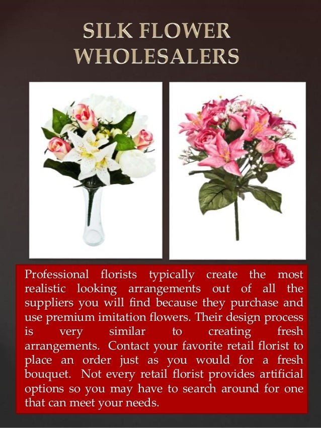 Silk artificial flowers 3 professional florists typically create the most realistic mightylinksfo