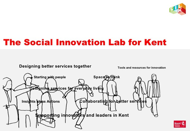 The Social Innovation Lab for Kent Designing better services together Starting with people Space to think Designing servic...