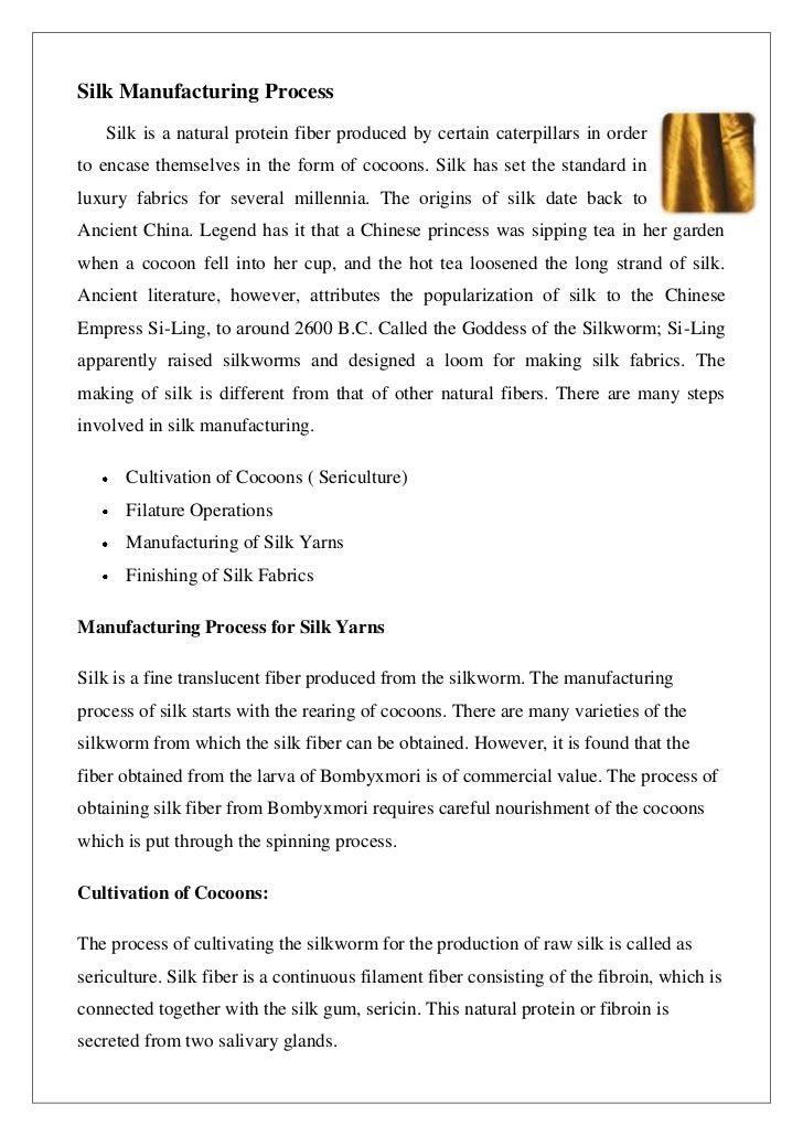 Silk manufacturing process Slide 2