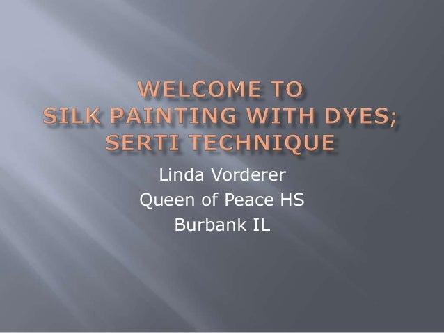 Linda Vorderer Queen of Peace HS Burbank IL