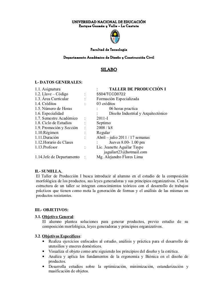 UNIVERSIDAD NACIONAL DE EDUCACIÓN                         Enrique Guzmán y Valle – La Cantuta                             ...