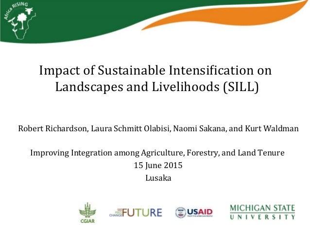ImpactofSustainableIntensi2icationon LandscapesandLivelihoods(SILL) RobertRichardson,LauraSchmittOlabisi,Nao...