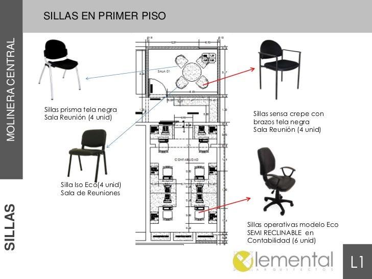 SILLAS EN PRIMER PISOMOLINERA CENTRAL                   Sillas prisma tela negra                                          ...